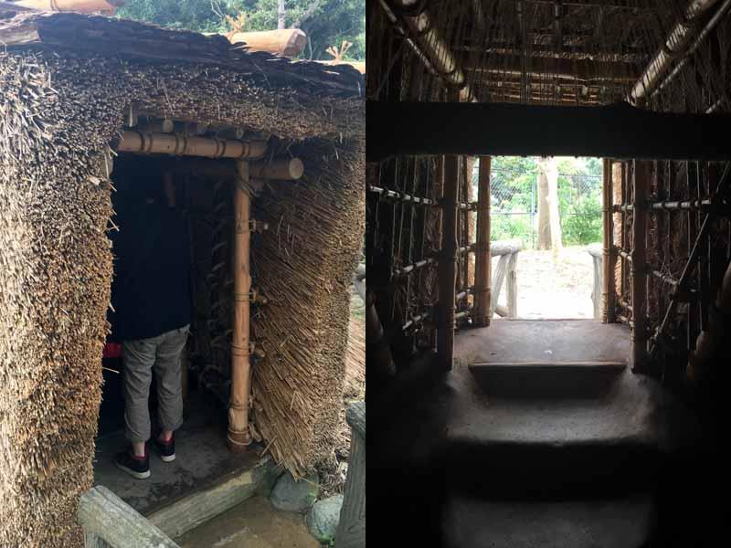 縄文時代竪穴住居入口
