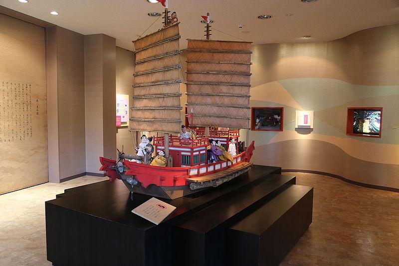 遣唐使船の模型