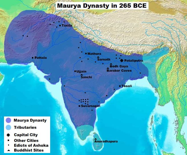Maurya_Dynasty_in_265_BCE